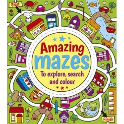 Amazing Mazes to Explore, Search and Colour