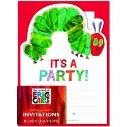 Eric Carle: The Very Hungry Caterpillar Birthday Invitations